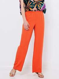 CAMAIEU oranžové volné nohavice
