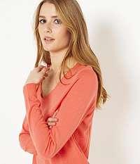 CAMAIEU ružové basic sveter
