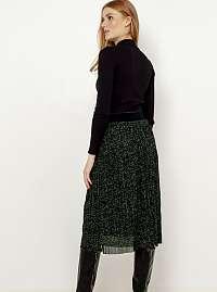 CAMAIEU sivá vzorovaná midi sukňa