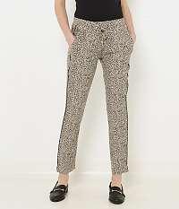 CAMAIEU sivé nohavice s leopardím vzorom
