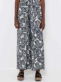 CAMAIEU sivé široké vzorované nohavice