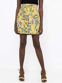 CAMAIEU žltá kvetovaná sukňa