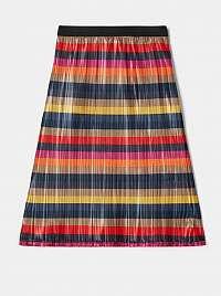 Červeno-modrá dievčenská pruhovaná sukňa name it Odsana
