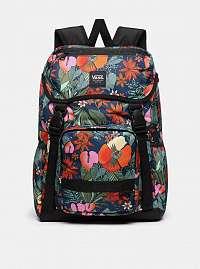 Červeno-modrý kvetovaný batoh VANS 22 l
