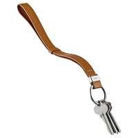 Chytré pútko na kľúče Orbitkey Strap - tan so strieborným krúžkom