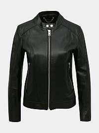 Čierna dámska kožená bunda Diesel