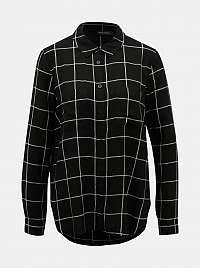Čierna kockovaná košeľa TALLY WEiJL