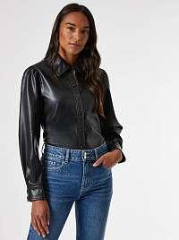 Čierna koženková košeľa Dorothy Perkins