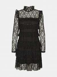 Čierne čipkované šaty Noisy May Nadine