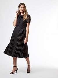 Čierne krajkované šaty Dorothy Perkins