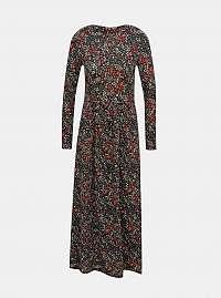 Čierne kvetované maxišaty Jacqueline de Yong Svan