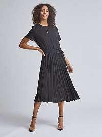 Čierne plisované midišaty Dorothy Perkins
