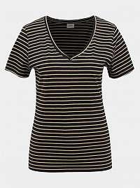 Čierne pruhované basic tričko Jacqueline de Yong Best Live