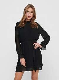 Čierne šaty so stojačikom Jacqueline de Yong