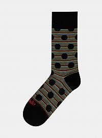 Čierne vzorované ponožky Fusakle Chameleon