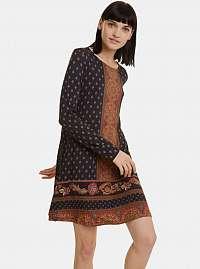 Čierne vzorované šaty Desigual Camille