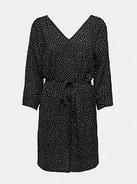 Čierne vzorované šaty Jacqueline de Yong
