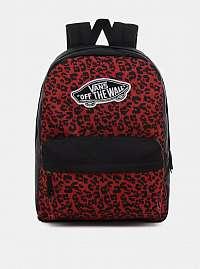 Čierno-červený batoh s leopardím vzorom VANS 22 l