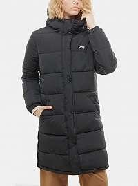 Čierny dámsky prešívaný kabát VANS