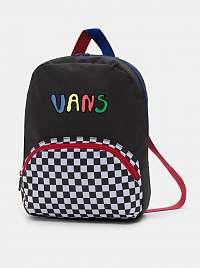 Čierny vzorovaný batoh VANS