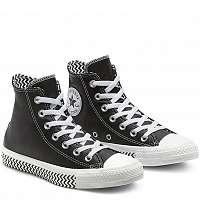 Converse čierne kožené tenisky Chuck Taylor All Star -