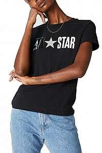 Converse čierne tričko All Star Tee