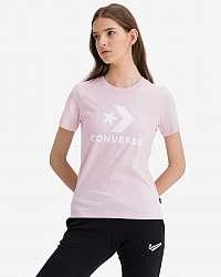 Converse ružové dámske tričko Star Chevron Center Front
