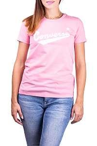 Converse ružové tričko Center Front Logo - XL