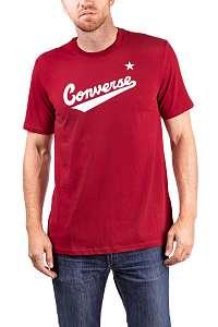 Converse vínové pánske tričko Center Front Logo