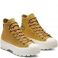 Converse žlté kožené tenisky Chuck Taylor All Star Lugged Winter Gold Dart/Olive Flak/Egret -,5