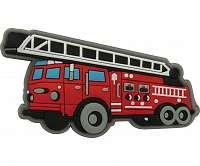 Crocs červená ozdoba do topánky Fire Truck Charm