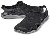 Crocs čierne pánske topánky Swiftwater Mesh Wave Black/Slate Grey - M13