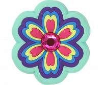 Crocs farebná ozdoba do topánky Jibbitz Rhinestone Rainbow Flower