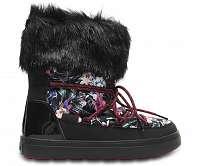 Crocs farebné snehule Lodgepoint Boot Graphic Lace