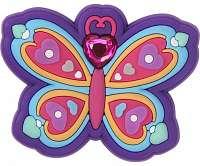 Crocs fialová ozdoba do topánky Jibbitz Rhinestone Butterfly