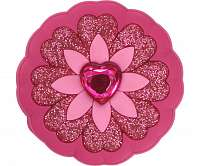 Crocs ružová ozdoba do topánky Jibbitz Rhinestone Heart Flower