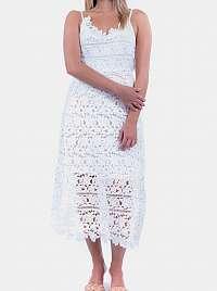 Culito from Spain biele šaty Long Blanco Solido