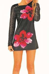 Culito from Spain čierne šaty 2 Flores