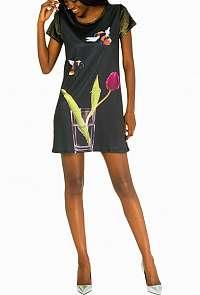 Culito from Spain čierne šaty Diente de Leon
