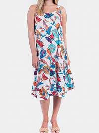 Culito from Spain kvetované šaty Long Blanco Selva Rosa