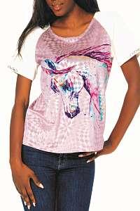 Culito from Spain zamatové farebné tričko Unicorno