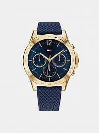 Dámske hodinky so silikónovým remienkom v modrej farbe Tommy Hilfiger