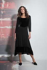 Deha čierne dlhé maxi šaty