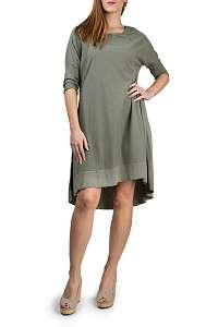 Deha khaki štýlové oversize šaty