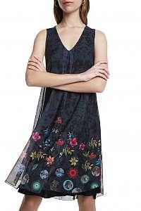Desigual antracitové šaty Vest Carnagy