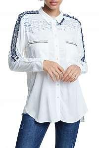 Desigual biela košeľa Cam Hamburgo