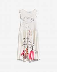 Desigual biele dievčenské šaty Karen