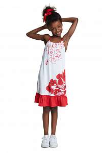 Desigual biele dievčenské šaty Vest México