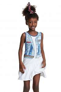 Desigual biele dievčenské šaty Vest Nogales