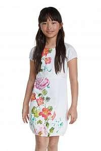 Desigual biele dievčenské šaty Vest Salamanca